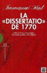Papel LA DISSERTATIO DE 1770 SOBRE LA FORMA Y LOS
