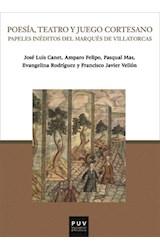 E-book Poesía, teatro y juego cortesano
