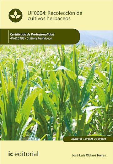 E-book Recolección De Cultivos Herbáceos. Agac0108