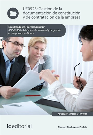 E-book Gestión De La Documentación De Constitución Y De Contratación De La Empresa. Adgg0308
