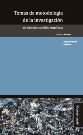 Papel Temas De Metodología De La Investigación En Ciencias Sociales Empíricas (2ª Edición Ampliada)