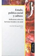 Papel ESTADO POLITICA SOCIAL Y CULTURA REFLEXIONES SOBRE LOS  SERVICIOS SOCIALES Y DE SALUD
