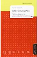 Papel DINERO SAGRADO POLITICA ECONOMIA Y SACRALIDAD EN ARISTO  TELES