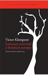 Papel LITERATURA UNIVERSAL Y LITERATURA EUROPEA
