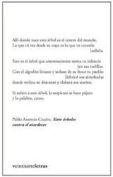 Papel SIETE ARBOLES CONTRA EL ATARDECER