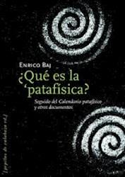 Papel ¿ Qué Es La Patafísica?.