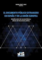 Libro El Documento Publico Extranjero En España Y En L