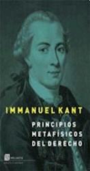 Libro Principios Metafisicos Del Derecho