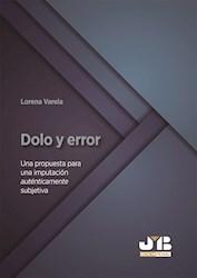 Libro Dolo Y Error.