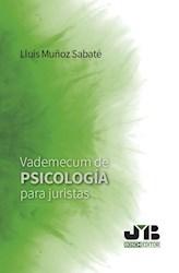 Libro Vademecum De Psicologia Para Juristas.