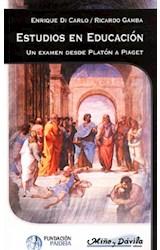 Papel ESTUDIOS EN EDUCACION (UN EXAMEN DESDE PLATON A PIAGET)