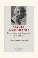 Papel MARIA ZAMBRANO. ENTRE LA RAZON, LA POESIA Y EL EXILIO