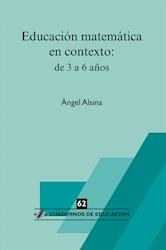 Libro Educacion Matematica En Contexto: De 3 A 6 Años