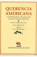 Papel QUERENCIA AMERICANA: JUAN RAMON JIMENEZ Y JOSE LEZAMA LIMA