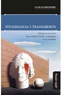 Papel INTOLERANCIA Y TRANSGRESION DILEMAS DE LA ACCION PARA C  ONSTRUIR ESTADO Y CIUDADANIA EN LA