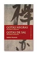 Papel GOTAS NEGRAS GOTAS DE SAL (COLECCION CONTEMPORANEOS)