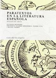 Papel Paratextos En La Literatura Española Siglos Xv-Xviii