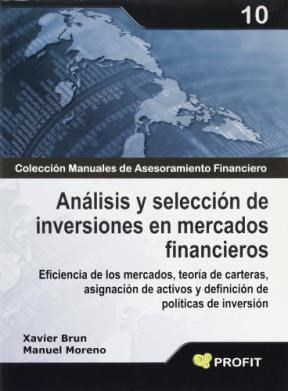 Papel Analisis Y Seleccion De Inversiones En Mercados Financieros
