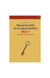Papel MANUAL DE ESTILO DE LA LENGUA ESPAÑOLA MELE 3