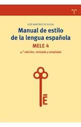 Papel MANUAL DE ESTILO DE LA LENGUA ESPAEOLA 4TA
