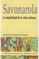 Papel SIMPLICIDAD DE LA VIDA CRISTIANA (CLASICOS DEL PENSAMIE  NTO)