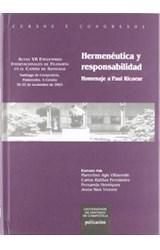 Papel HERMENEUTICA Y RESPONSABILIDAD: HOMENAJE A P