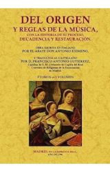 Papel DEL ORIGEN Y REGLAS DE LA MUSICA
