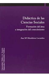 Papel DIDACTICA DE LAS CIENCIAS SOCIALES . FORMACI