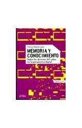Papel MEMORIA Y CONOCIMIENTO SOBRE LOS DESTINOS DEL SABER EN