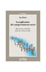 Papel EXPLICACION DEL COMPORTAMIENTO SOCIAL MAS TUERCAS Y TORNILLOS PARA LAS CIENCIAS SOCIALES