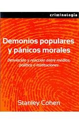 Papel DEMONIOS POPULARES Y PANICOS MORALES