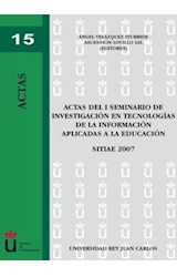 E-book Actas del I Seminario de investigación en tecnologías de la información aplicadas a la educación