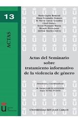 E-book Actas del Seminario sobre tratamiento informativo de la violencia de género