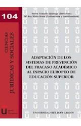 E-book Adaptación de los sistemas de prevención del fracaso académico al espacio europeo de educación superior