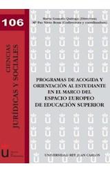 E-book Programas de acogida y orientación al estudiante en el marco del espacio europeo de educación superior
