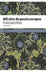 Papel MIL AÑOS DE POESIA EUROPEA