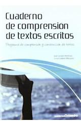 Papel CUADERNO DE COMPRENSION DE TEXTOS ESCRITOS (CUADERNOS)