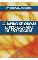 E-book Cuando se quema el profesorado de secundaria?