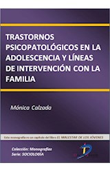 E-book Trastornos psicopatológicos en la adolescencia y líneas de intervención con la familia