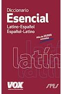 Papel DICCIONARIO ESENCIAL LATINO-ESPAÑOL / ESPAÑOL-LATINO (BOLSILLO) (RUSTICA)