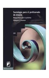Papel SOCIOLOGIA PARA EL PROFESORADO DE MUSICA