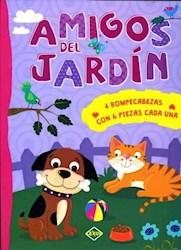 Libro Amigos Del Jardin (4 Rompecabezas Con 6 Piezas Cada Una)