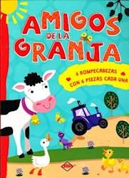 Libro Amigos De La Granja (4 Rompecabezas Con 6 Piezas Cada Una)