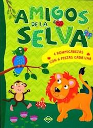 Libro Amigos De La Selva ( 4 Rompecabezas Con 6 Piezas Cada Una)