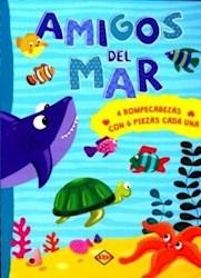 Libro Amigos Del Mar (4 Rompecabezas Con 6 Piezas Cada Una)