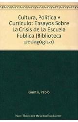 Papel CULTURA, POLITICA Y CURRICULO