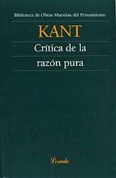 Libro Critica De La Razon Pura