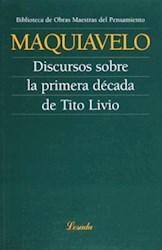 Libro Discursos Sobre La Primera Decada De Tito Livio