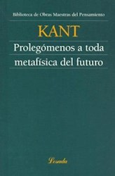 Libro Prolegomenos A Toda Metafisica Del Futuro