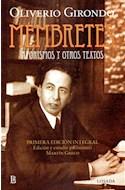 Papel MEMBRETES AFORISMOS Y OTROS TEXTOS (PRIMERA EDICION INTEGRAL)